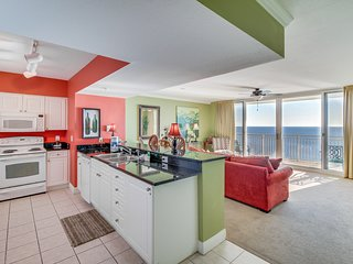 Oceanfront condo w/ shared pool, hot tub, easy beach access, & nearby sights!