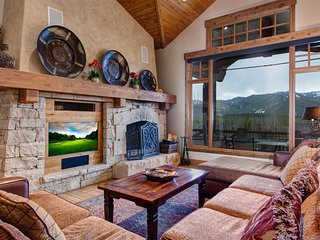 Gorgeous home w/ furnished balconies, a private hot tub, & amazing views