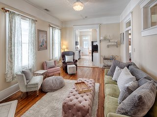 Walk your dog in Forsyth Park from this double-balcony Savannah condo