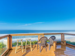 Charming oceanfront home with hot tub, stunning views, and room for everyone