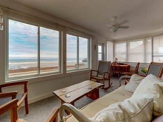 NEW LISTING! Updated oceanfront home w/ocean view & entertainment -walk to beach