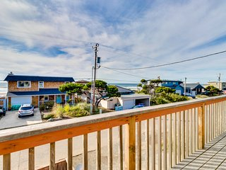 Dog-friendly getaway, with ocean views, the beach is just one block away!