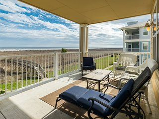 Beachfront dog-friendly condo with views; shared pool & hot tub!