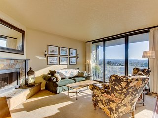 Oceanview, dog-friendly condo close to beach & town with shared pool!