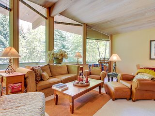 Secluded family home near the slopes of Bald Mountain with private hot tub!