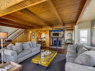Spacious home with two large decks & ocean view - great for groups!