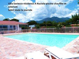 Belle villa T4 neuve, bord de mer, piscine chauffée, jardin privé,climatisée