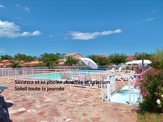 Surclassez-vous Belle villaT4,150m plage, piscine chauf., jard. prive,climatisee