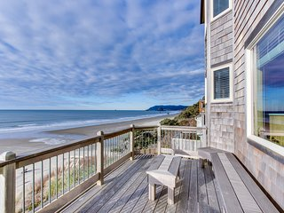 Beautiful beachfront home with stunning ocean views & outdoor firepit