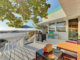 Incredible beachfront bungalow with deck, grill, outdoor shower, and more