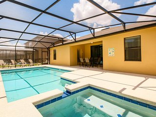 Perfect home for large groups, and near theme parks. Private pool, and more!