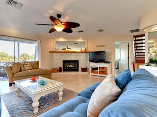 Dog-friendly house w/ balcony ocean views & private pool  - walk to the beach!