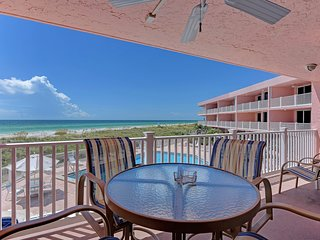 Waterfront living w/ furnished balcony, great views & shared pool