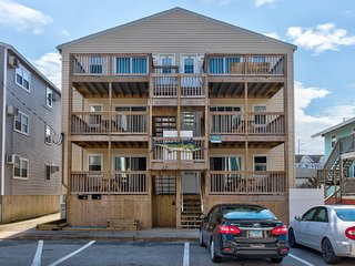 Six unit, ocean view building w/ decks & kitchens - dogs OK in two units!