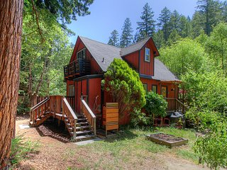 NEW LISTING! Family-friendly riverfront cabin w/views & wood stove