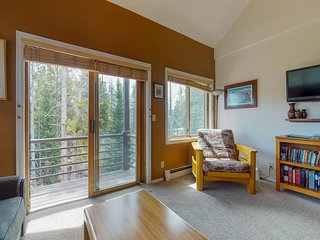 Dog-friendly, ski-in, ski-out condo with shared hot tub and convenient location