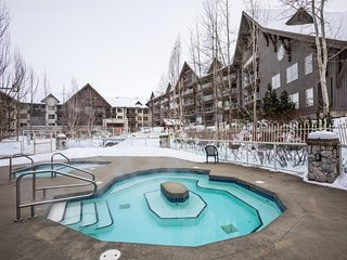 Ski-In Suite with a Fireplace + Balcony | 3 Hot Tubs, Pool, + Gym