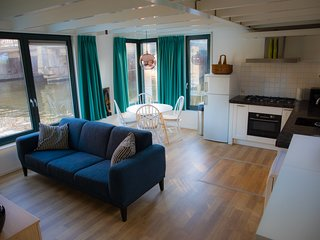 Great houseboat in Amsterdam