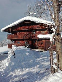 Als Skihütte im Zillertal im Winter in 10 min. an der Bergbahn