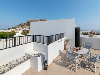 Lindos Olive 2 Bedroomed Suite with Private Roof Terrace