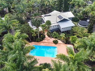 NEW! Hale Oliveira: Private Home on 1.85 Acre Palm Plantation with Pool and Tiki