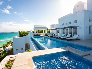 Sea Villa Anguilla Grand Opening: Stairs to Velvet-Sand Beach, Butler, Concierge