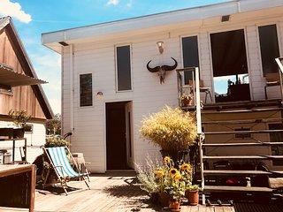Bohemian houseboat
