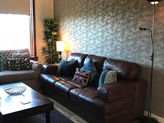Leather Sofa & Double Sofabed