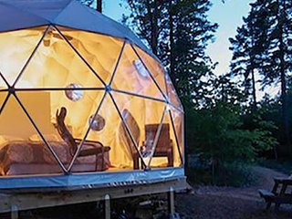 Blue Bayou Resort King size suite Geodesic Dome Just off the Cabot Trail. K4