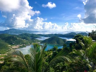Coconut Hill Cottage - Breathtaking views of Coral Bay on St John
