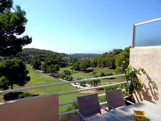 Overlooking the sea and the golf course from Altea (la Vella)