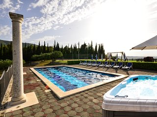 Villa Milicic with pool,sauna,gym and tennis, football & basket court