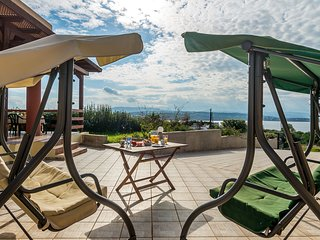 Fanatastic View Villa 200m From Tersanas Beach
