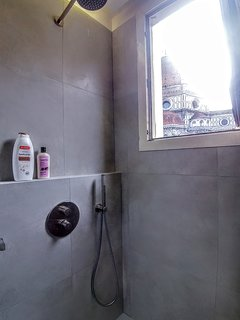 The famous, unique and patent 'shower with view' experience, the most beautiful you've ever seen ;-)