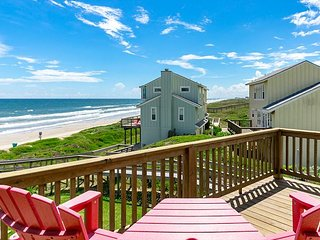 Fully Remodeled Home at Lost Colony w/ Ocean View - Steps from Beach
