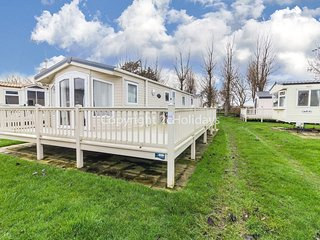 6 berth caravan with D/G, C/H and large decking at California Cliffs. REF 50017L