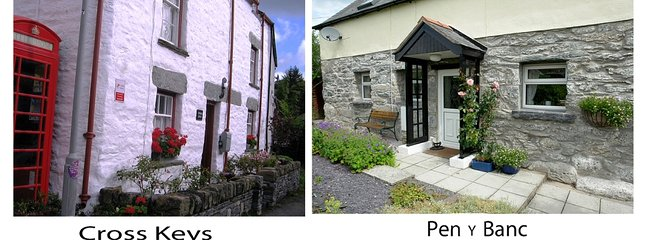 Pen y Banc, en två sovrum stuga med stor säker trädgård i Sarnau, samma avstånd från Bala.