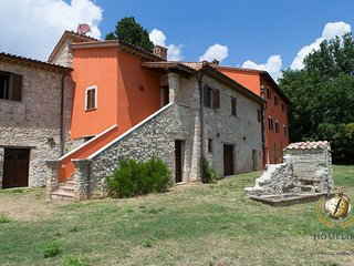 Villa Petra, surrounded only by crops and hills