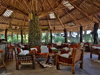 Go for a safari in Amboseli National Park and relax at the Kibo Safari Camp