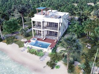 HideAway Villa Maya Beach NEW 1st Class Luxury Beachfront home with Private Pool
