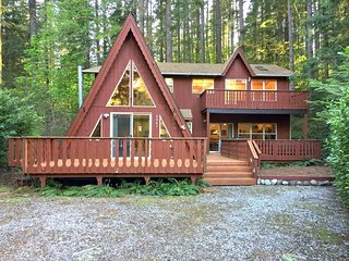 Mt. Baker Lodging Cabin #45 – HOT TUB, FIREPLACE, BBQ, PETS OK, W/D, SLEEPS 10!