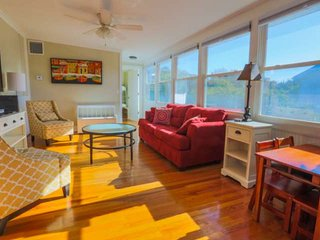 2 Min Walk to Beach from this Family Friendly, 2nd Story Duplex with Sunroom & C