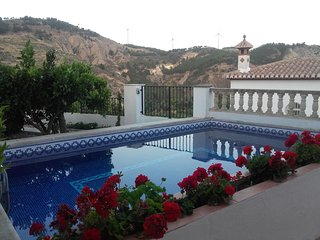 Spacious villa in Dúrcal with Parking, Internet, Air conditioning, Pool