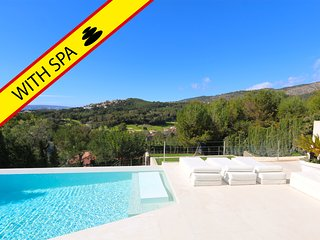 Villa with Spa, sea and golf views, heated pool,... VillaSpaBendinat