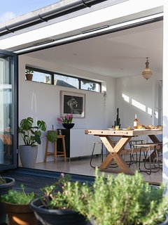 Enjoy dining indoors and outdoors