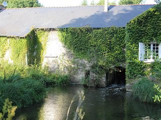 Water mill and converted barn with brand new swimming pool. Sleeps 15