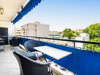 3 pièces 75 M2 terrasse ensoleillée centre Juan les Pins 350 m plages