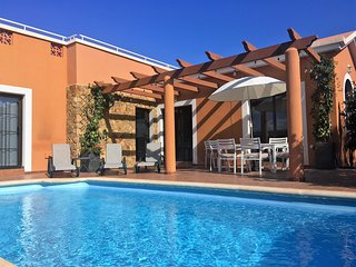 Villa with private heated pool on golf resort and nearby beach & private garden