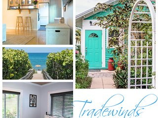 TRADEWINDS | Tropical 3 BR House Steps to Beach | Huge Backyard | Pet Friendly