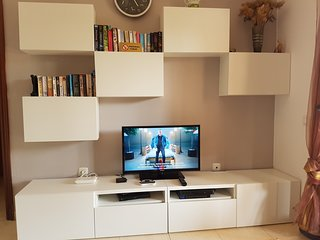 Free internet included. Apartment also includes books, games and many TV channels including BBC, ITV